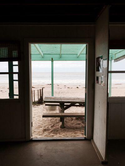 Interior facing beach