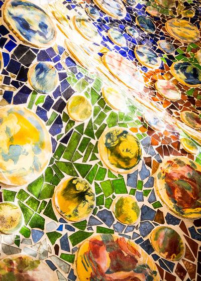 Casa Batllo - Mosiac Tiled Abstract Antoni Gaudí ArtWork Barcelona Casa Batllo Colourful Gaudi Mosiac Mosiac Tiled Abstract Pattern SPAIN Abstract ARCHITECT Art Close-up Colorful Day Multi Colored No People Pattern Tiled