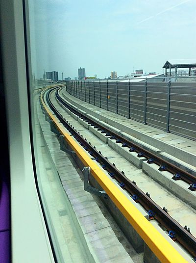 Mrta Purple Line Rail Train Elevated Railway From My Point Of View Enjoying The View Hello World EyeEm Around The World We ❤️ Thailand Construction Architecture Engineering