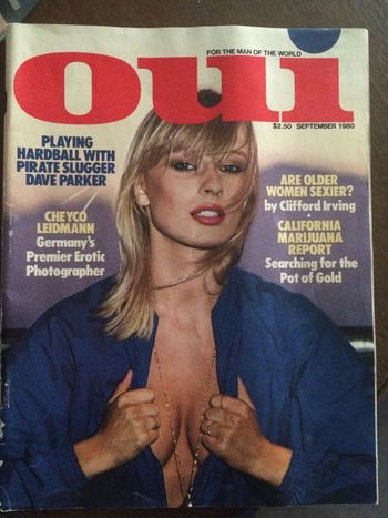 Fashionmodel  70ties Nikki Van Rie Oui Magazine