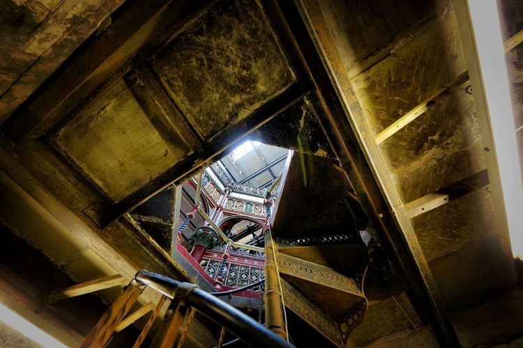 Crossness Pumping Station Architecture Indoors  Built Structure Low Angle View Staircase Steps And Staircases No People