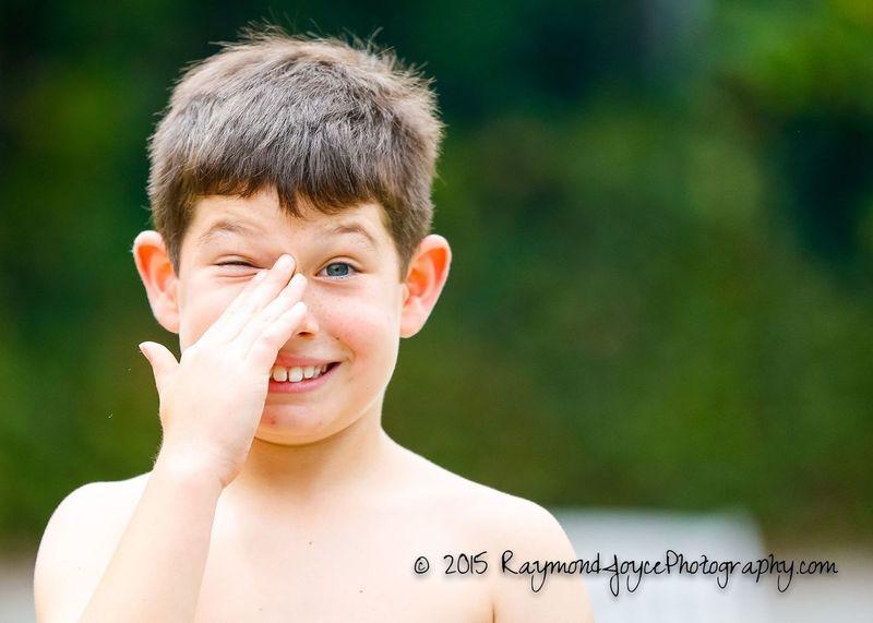 Just Mikey! Children Photography Enjoying Life Happy Summer Having Fun Squinting