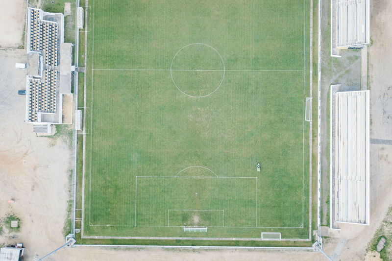 City DJI X Eyeem Football Aerial Aerial View Architecture Court Day Dji Goal Post Green Color No People Outdoors Playing Field Soccer Soccer Field Soccer⚽ Sport Tennis View From Above