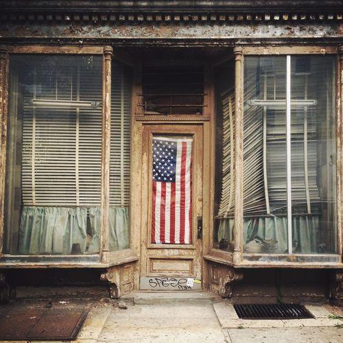 American Flag Brooklyn Williamsburg