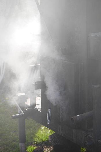 Smoker and meats. BBQ Bbqribs Bbqtime Outdoors Ribs Smoker Sunbeam Sunny