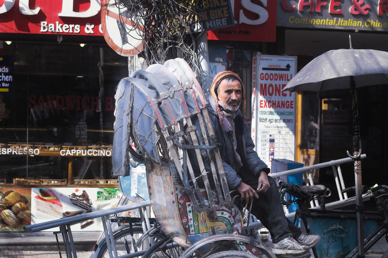 Nepalese life Thamel Street Kathmandu Nepal Store One Man Only Business Finance And Industry One Person Market Retail  Adult Only Men People Business City Looking At Camera Outdoors Real People