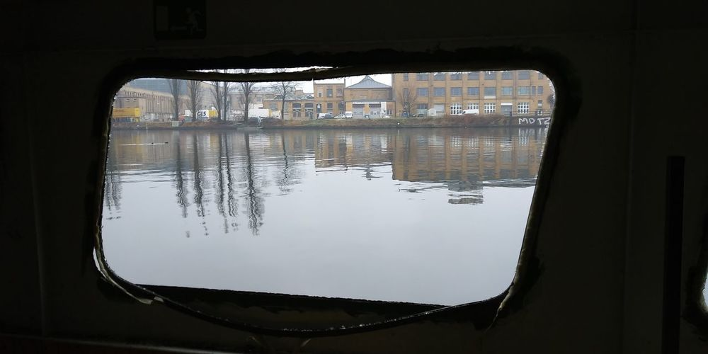 Ship Inside Reflection Business Finance And Industry No People Water Indoors  Day City