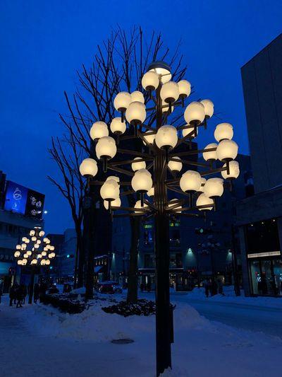 Morioka at night Street Tadaa Community uniqueness Nightphotography Night Tohoku Iwate Morioka Streetlight Illuminated Lighting Equipment Architecture Built Structure Snow Night Building Exterior Winter