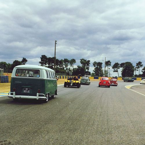 VWs on the track at Super VW Fest, Le Mans, France. VW Aircooled Campervan Vwbeetle Supervwfest First Eyeem Photo