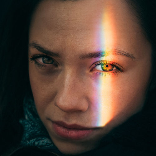 Eyes Rainbow Colors Rainbow One Person Portrait Only Women Human Body Part Human Face One Woman Only Adults Only Close-up Looking At Camera Multi Colored One Young Woman Only Beautiful Woman Beauty People Young Adult Headshot Adult Love Yourself Inner Power Visual Creativity This Is My Skin The Fashion Photographer - 2018 EyeEm Awards The Portraitist - 2018 EyeEm Awards The Still Life Photographer - 2018 EyeEm Awards The Creative - 2018 EyeEm Awards This Is Natural Beauty International Women's Day 2019