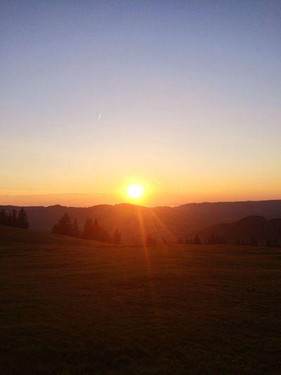 Bregenzerwald Vorarlberg Unbeschreiblich Sonnenaufgang Sunset Sun Nature Sunlight Beauty In Nature Scenics Landscape