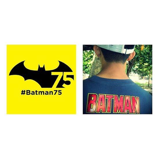 It's batman's 75th anniversary! I'm wearing my batman shirt to celebrate Batman75