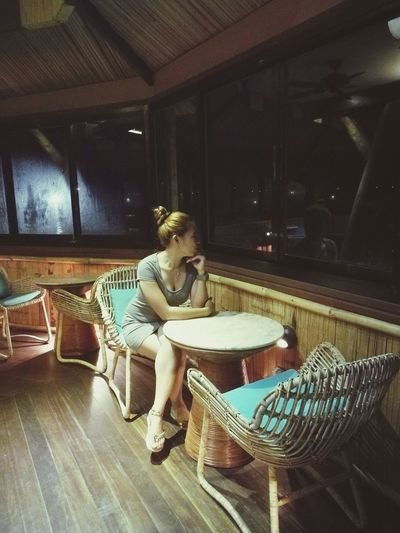 It feels good when you treat yourself something special.. Vacations Relaxing Moments Nightphotography One Woman Only Alone Resorts