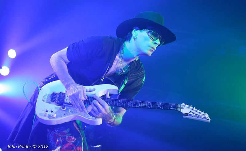 This photo was used on Steve Vai's Official Website Vai.com. It was used along with Steve's Holiday greetings for 2012. Steve Vai - The Story Of Light Tour 2012 - Tilburg, Holland Stevevai Guitarist Concert Ibanez #ibanezjem