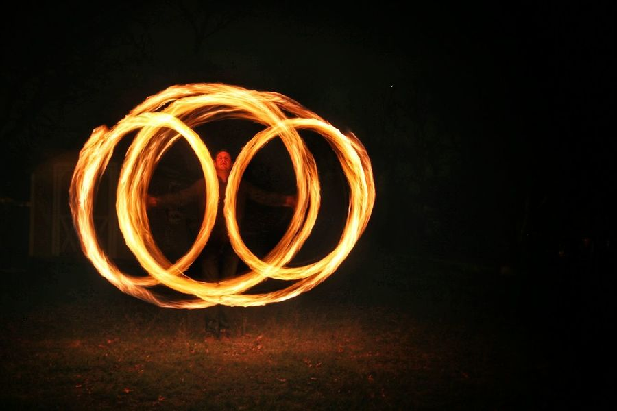 Fire Poi Fire Spinners Pyro Slow Shutter Light Painting Photography Canon 6D March Showcase Adventure Portrait Texas Nightphotography Fort Worth