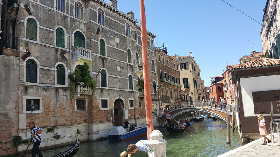Venice, Italy Architecture Canal Gondola - Traditional Boat Water Tourism Travel Destinations People Alte Gebäude Architecture No Filter Outdoors Venedig Gondeln