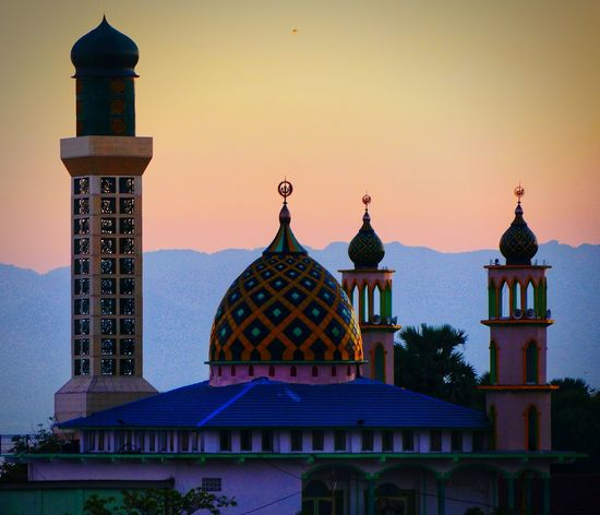 Mosque in kupang Nusantara Wonderful Indonesia Mosque Politics And Government City Sunset Dome Religion Architecture Sky