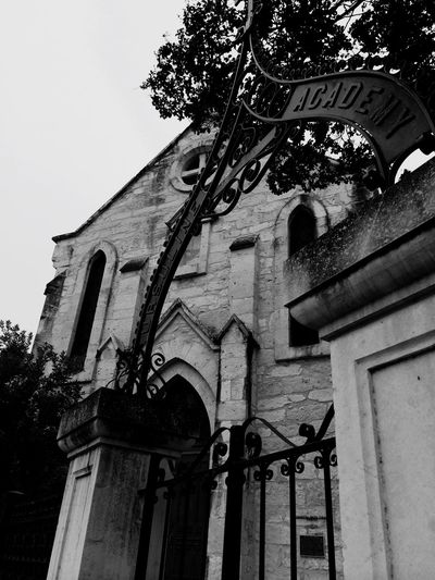 Black And White Architecture Rock Church School Downtown Texas Satx Archway Old The Week On EyeEm