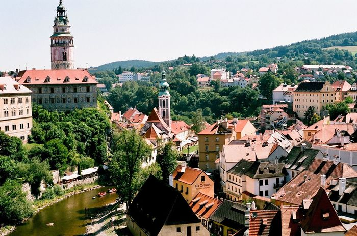 Cute little Czech towns. Cesky Krumlov In summer. European  Europe Architecture Czech Republic Český Krumlov Czech EyeEm Selects Architecture Building Exterior Built Structure Town Outdoors No People Tree Day Roof City Clear Sky Sky Water Cityscape