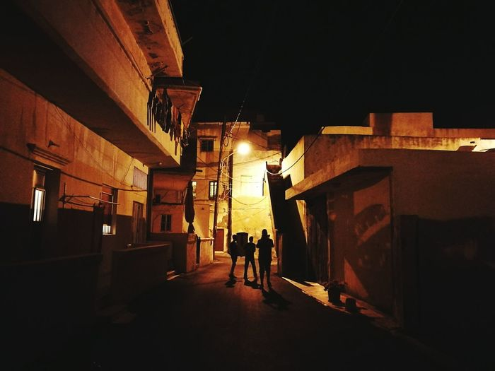 Architecture Built Structure Night Person Residential Structure Diminishing Perspective Friendship Ancient Lebanon Middle East Anfeh