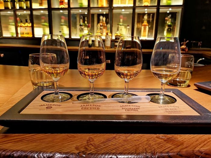at the Jameson Distillery in Dublin Whiskey Whiskey On Ice Whiskey Glass Drinks! Jamesonwhiskey Jameson Jameson Irish Whiskey Jamesondistillery Whiskeytasting Whiskeytaster Drinking Enjoy Elegant Drink Drinking Glass Bar - Drink Establishment Table Alcoholic Drink Glass Water Drop Beverage