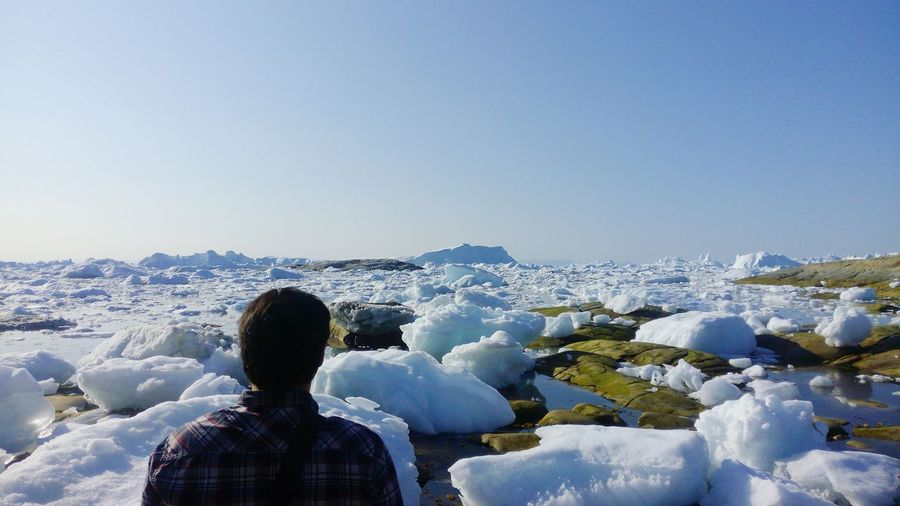 Icy summer at the Arctic 💙 Ice Arctic Greenland Icebergs Summer Blue Sky Serenity Purity Ice Age