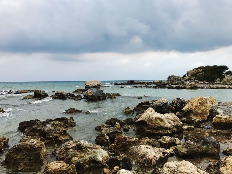 Sea Sky Water Nature Horizon Over Water Rock - Object Beauty In Nature Tranquility Scenics Cloud - Sky No People Tranquil Scene Outdoors Day in Manavgat , Turkey Been There. Lost In The Landscape