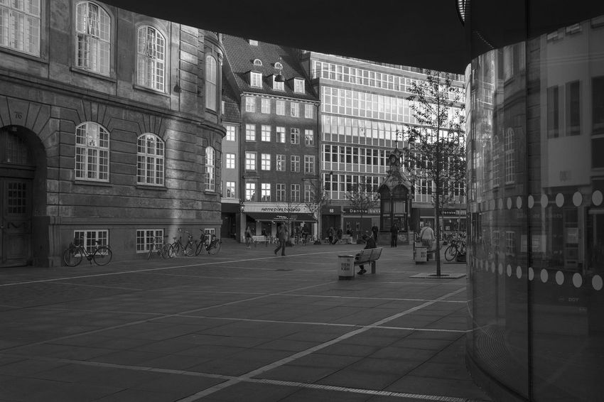 Nørreport Station Archineos Architecture Architettura B&n B&w Bianco E Nero Black And White Blanco Y Negro Building Exterior City Closed Skyline Copenhagen Danimarca Denmark København Monochrome Monocromo Nørrebro  Nørreport Station Outdoors Street Urban Urban Geometry Urban Landscape