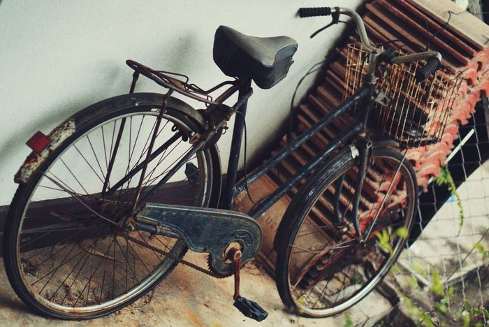 Old Is Gold Bicycle Mode Of Transport Stationary Transportation Abandoned Land Vehicle No People Indoors  Day