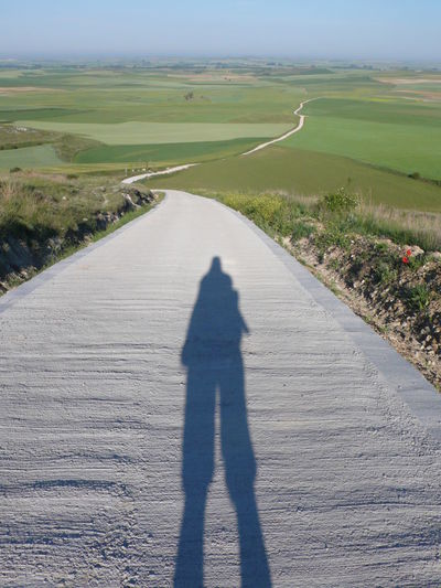 Camino Hiking Trekking Camino De Santiago Landscape Leisure Activity Nature Outdoors Road Shadow The Way Forward Way To Go