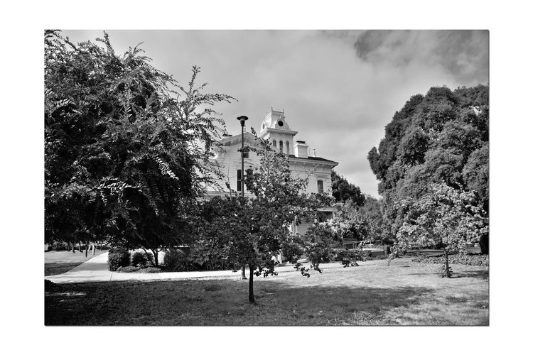 Meek Mansion 9 Cherryland, Ca. Cherryland, Ca. Historic Meek Mansion William Meek Built 1869 10 Acre Estate Once 3,000 Acres Orchards: Cherry,apricots, Plums & Almonds Estate Grounds Architecture Victorian Gothic Style: Second Empire, Italian Villa Landscape_Collection Monochrome_Photography Monochrome Black & White Black & White Photography Black And White Black And White Collection  Architectural Feature Cupola Arched Windows Columns Mansard Roof Hayward Area Recreation Dept. Purchased 1964 Hayward Area Historical Society National Register Of Historic Places 73000229