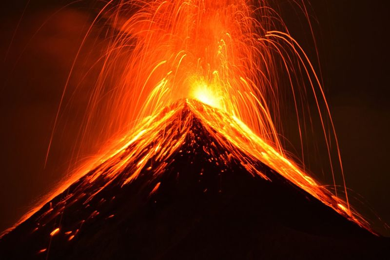 Volcan Fuego Volcano Glowing Orange Color Night Heat - Temperature Erupting Power In Nature Lava Outdoors No People Mountain Nature Beauty In Nature Fuego Perspectives On Nature Guatemala EyeEm Best Shots EyeEm Nature Lover EyeEmNewHere Eruption Long Exposure Illuminated Fire Perspectives On Nature Be. Ready.