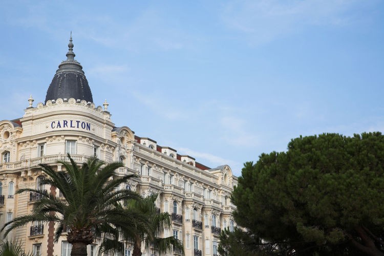 Belle Epoque Architecture Belleepoque Blue Sky Building Exterior Built Structure Cannes CannesFilmFestival Carlton City City Street Croisette Day Dome Famous Place Façade Low Angle View Luxury Mediterranean  No People Outdoors Palm Tree Pine Tree Sky Sunny Day Travel Destinations