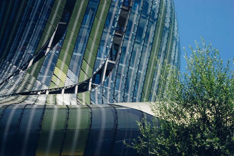 Cité Du Vin Architecture Blue Building Exterior Built Structure Clear Sky Day Modern No People Outdoors Sky
