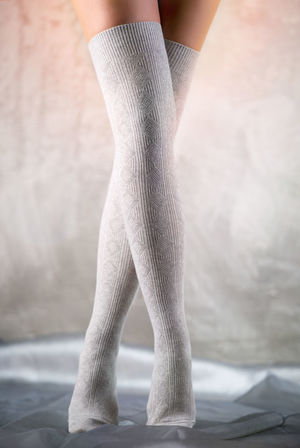 Beautiful woman legs in grey stockings Fashion Feminine  Leg Slim Stockings Woman Caucasian Close-up Gray Background Grey Hosiery  Human Body Part Human Leg Indoors  Indoors  Legs One Person Pose Posing Real People Slender Socks Studio Shot Woman's Body Part Women