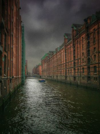 Architecture Built Structure Sky Building Exterior Cloud - Sky Waterfront Water River Outdoors No People Day City Nature Speicherstadt World Heritage Boat