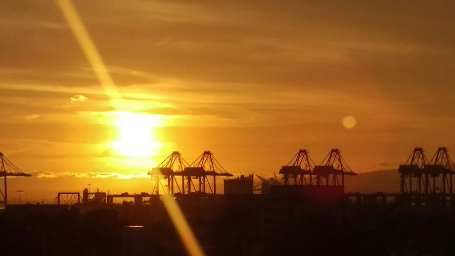 Sunset Sunset_collection Sunsets Sun_collection Port Cranes Cranes Gallore