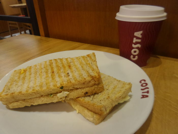 Coffee Costa Coffee Dubai Mall Food And Drink For The Love Of Coffee Sandwich Serving Size Tosted