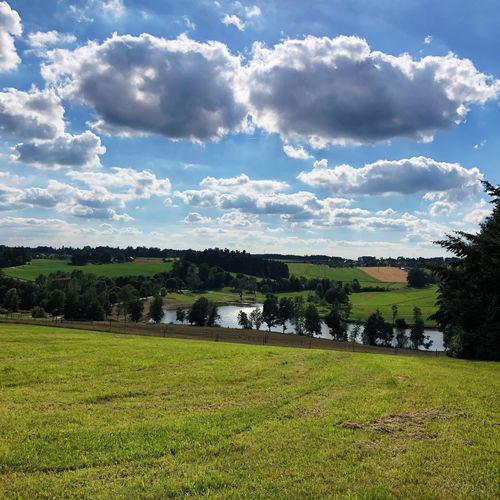 Lake View Cloud - Sky Field Landscape