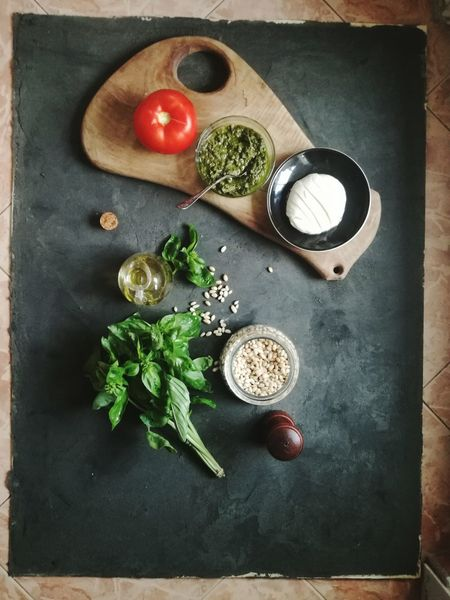 Ingredient Food Food And Drink Healthy Eating Directly Above Herb Freshness No People Indoors  Rustic Italianfood Food And Drink Italian Food Pesto Alla Genovese Freshness Healthy Lifestyle Pesto Preparation Pesto Genovese Sauce Pestolover Pesto Photographer Photography Foodphotographer