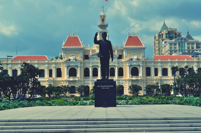 A statue of uncle Ho in Ho Chi Minh city Ho Chi Minh City Ho Chi Minh Statue Saigon Vietnam
