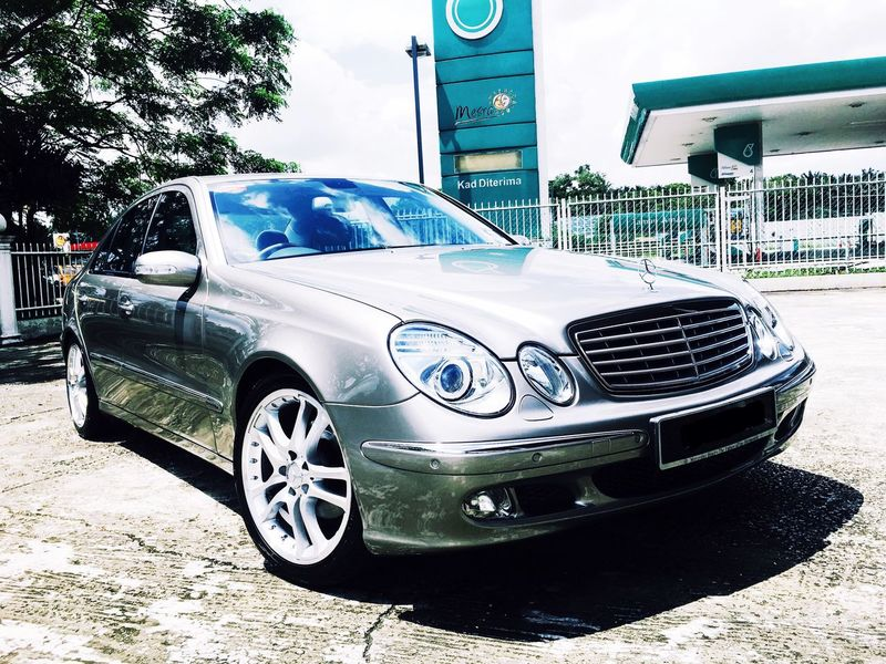 MERCEDES BENZ E240 V6 AMG Car Mode Of Transport No People Sky Outdoors Benz E-Class Day First Eyeem Photo AMG