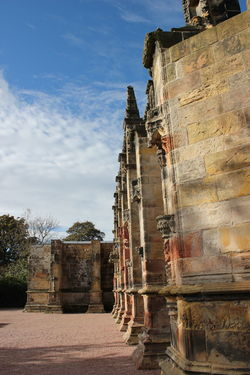 Ancient Ancient Civilization Architecture Built Structure Cultures Day Edinburgh History No People Old Ruin Outdoors Pilgrimage Place Of Worship Religion Rosslyn Chapel Scotland Sky Tourism Travel Travel Destinations