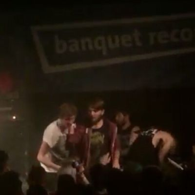 Finally found a picture of me on stage at bury tomorrow, have to thank David white for his youtube video and this is a screenshot Burytomorrow Onstage ClaimToFame Teambt runes