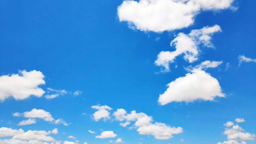 Blue sky with clouds Blue Backgrounds Beauty Abstract Pattern Summer Sky Cloud - Sky Sky Only Cumulus Cloud Fluffy Meteorology Cloudscape Stratosphere Cumulonimbus Cumulus