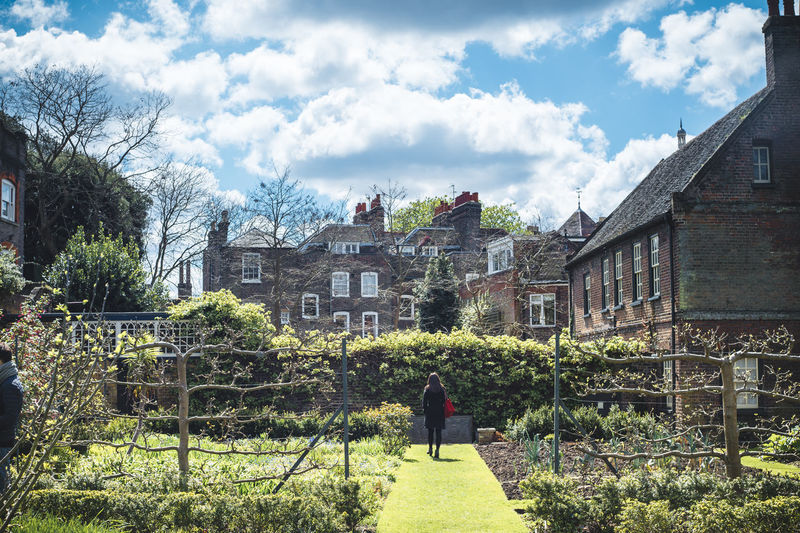 Architecture Building Exterior Casual Clothing City Cloudy Colours English Garden English Garden Style Grass Green And Blue Old Houses And Garden Plant Sky Tree