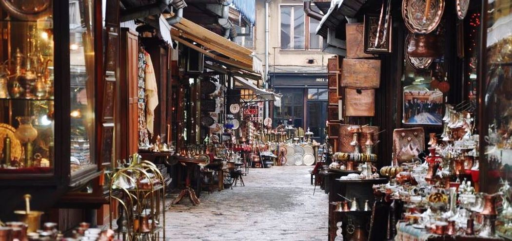 Old City Sarajevo Bascarsija The Way Forward Architecture Built Structure Market Day Building Exterior Outdoors No People