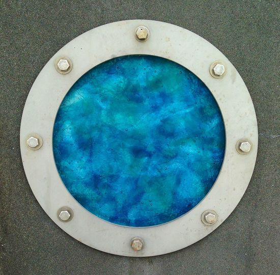 Porthole Art Simplicity Porthole Art Glass Glass Art Minimalism Minimalobsession Blue Open Edit Nautical Art