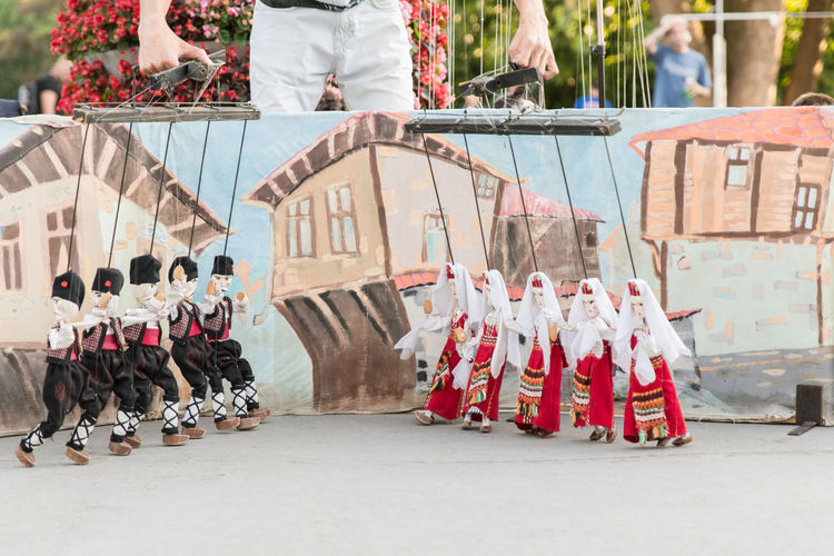 Adult Art Culture And Entertainment Cultures Day Large Group Of People Man Marionette Outdoors People Performance Period Costume Traditional Clothing Traditional Costume Traditional Culture Traditional Dancing