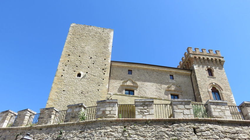 castle of Crecchio in Abruzzo Architecture Blue Building Exterior Built Structure Castle Chieti Day Exterior Historic History Low Angle View Medieval No People Outdoors The Past Travel Destinations